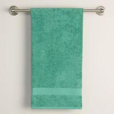 Beryl Green Bath Towels