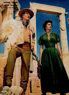 John Wayne & Sophia Loren