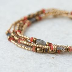 Stone Bead Wrap Bracelet in Valentine's + Gifts Valentine's Day Jewelry Under $250 at Terrain