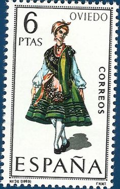 Buttons & Fabrics: Traditional Costumes : Postage Stamps Spain