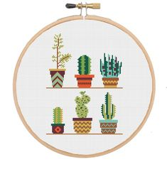 Modern Cactus Succulent cross stitch pattern available at www.melocadesigns.etsy.com - Modern cross stitch pattern and full cross stitch kit available at www.melocadesigns.etsy.com - 20% of 3 items, 30% off 5 items and 40% off 10 items - discount automatically applied at checkout