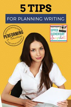 5 Tips for Planning Writing (Upper Elementary Snapshots) Writing Resources, Teaching Writing, Writing Activities, Writing Skills, Writing Ideas, Easy Writing, Kindergarten Writing, Writing Process, Personal Narrative Writing