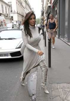 Kim Kardashian and Kanye West left their hotel The Four Seasons George V ,and made a stop rue des St Peres , in St. Germains des Pres at APC's Show Room and after went to Colette's store rue st Honore.    Paris, France June 19th 2012