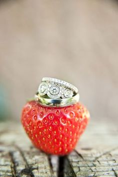 rings? This could be a possibility, I think my florist plans to use fruits such as figs and dark grapes in the floral arrangements