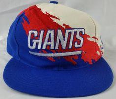 New York Giants Vintage Snapback Logo Athletic Splash Hat NFL Pro Line Cap Rare