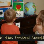 Preschool Schedule....going to get these kids on a routine before they start school next year