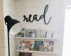 Read Word Wood Cut Wall Art Sign Library School Classroom Decor Boho Abstract Design