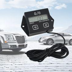 Digitale Motor Tach Urenteller Toerenteller Gauge Motor RPM Lcd-scherm Voor Motorfiets Motor Takt Motor Auto Boot Motorfiets
