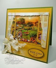 card by Grace Nywening.... Flower Soft window scene