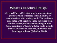 Cerebral Palsy Part 1 Cerebral Palsy Awareness, Disability Awareness, Hemiplegic Cerebral Palsy, Disability Quotes, Autism Apps, Multiple Disabilities, Developmental Disabilities, Family Support, Special Education Classroom
