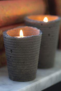 Hannis hem: Ljusstakar i betong DIY