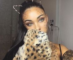last minute leopard last night / i can't wait to show you the rest of my costumes / what are you being for halloween Cheetah Halloween Costume, Halloween Inspo, Cute Halloween Costumes, Halloween Makeup Looks, Leopard Halloween Makeup, Family Halloween, Happy Halloween, Cheetah Makeup, Make Carnaval