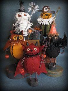Primitive Folk Art Halloween Parade