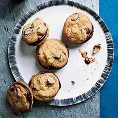 Ganache-Stuffed Chocolate-Chip Cookies