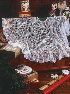Winter Lace Tree Skirt