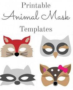 DIY Animal Crafts: Halloween Animal Costumes, Mask and Stuffed Toys Animal Mask Templates, Printable Animal Masks, Sleeping Beauty Costume, Animal Halloween Costumes, Animal Crafts, Stuffed Toys, Diy, Animals, Animales