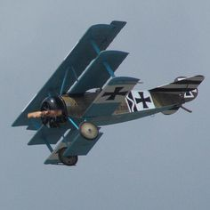 Fokker Triplane DR1 part of the The Great War Display Team.