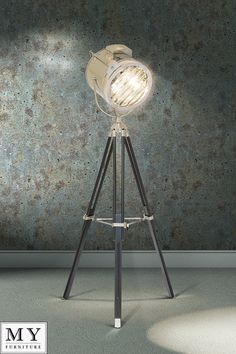 Bardot - LARGE DRUM Retro Classic Theatre, Stage Tripod Light Floor Lamp | eBay