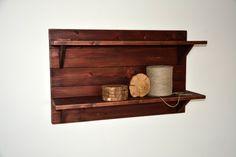"Rustic Wooden Shelf - 32"" x 20"" x 8"" - Wooden Shelf - Rustic Shelf - Display Shelf - Rustic Wall Shelf - Rustic Shelving"