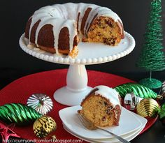 Curry and Comfort: Cranberry Eggnog Bundt Cake