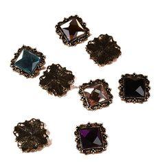 25pcs 10x14mm Flatback Oval Acrylic Crystal Rhinestone Embellishment Gem Jewels