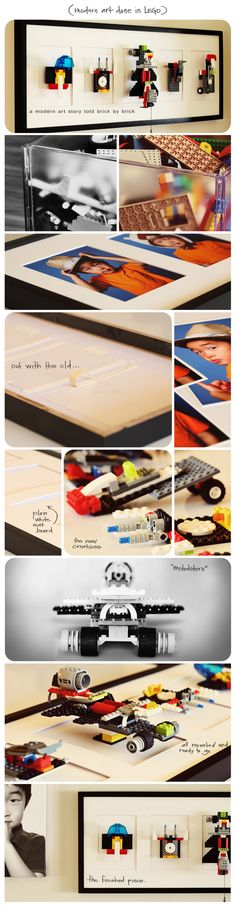 Preserve your child's LEGO creations just like you would their art ~ perfect birthday surprise and room decor!