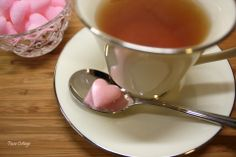 Homemade sugar hearts to serve with coffee or tea.