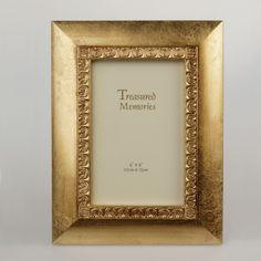 Złota ramka stylizowana na starą 10×15 cm