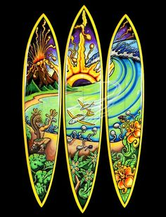 I love Drew Brophy's wild style. Paint pens & surfboards, what's not to love?!
