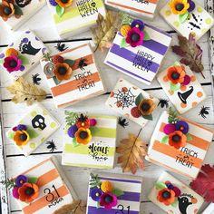 Fall Wood Crafts, Felt Crafts, Diy Crafts, Outdoor Halloween, Fall Halloween, Felt Flower Tutorial, Fall Fireplace, Halloween Projects, Crafty Craft