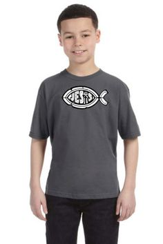 Jesus Fish Boys Christian T-Shirt designs from www.gobshoppers.com are created in our www.abqcustomtshirt.com design studio. by GOBSHOPPERS on Etsy