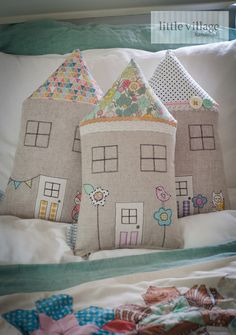 Liberty love bird house cushion by little village handmade