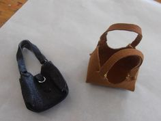 dolls houses and minis: How To Make a Leather Shopping Bag in 1:12 Scale.