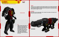 Profile page for my Edmontonia Dinobot OC, Slab. His Pre-Earth, 'Dynobot' form can be seen here-