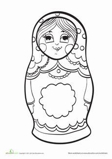 matryoshka doll coloring page