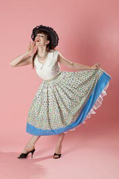 Vintage 1950s Pleated Cotton Skirt #vintage #skirt #summer #cotton #pleated @Etsy