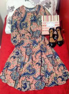 Vestido godê estampado - Maria Filotéia