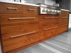 This Is Dendra Doors Custom IKEA Walnut Drawers With A Horizontal Grain.  More Images Can