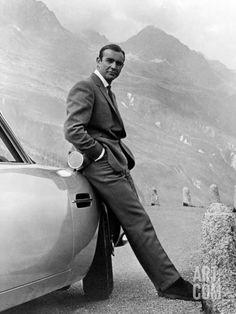 "Sean Connery. ""007, James Bond: Goldfinger"" 1964, ""Goldfinger"" Directed by Guy Hamilton at Art.co.uk"