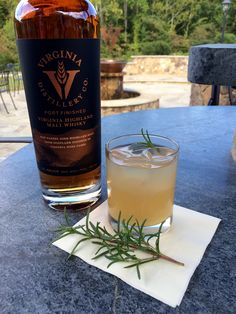 RECIPE: Rosemary Refresher (makes one cocktail); 1½ oz Virginia Highland Malt Whisky; 1 oz freshly squeezed lemon juice; 1 oz freshly squeezed lime juice; *2 oz rosemary simple syrup; Cardamom bitters; Club Soda; Rosemary sprig to garnish; 1.Combine first 4 ingredients in glass over ice. 2.Stir, top with 2 dashes of bitters and a splash of club soda and garnish with rosemary sprig. *See website for full recipe.