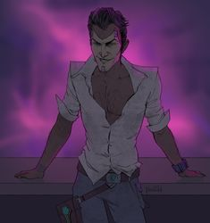 Trash for a lot of things. Currently, expect a lot of Tales from the Borderlands and pure Rhack garbage. Handsome Jack Borderlands, Borderlands 1, Tales From The Borderlands, Davekat, Handsome Boys, Game Art, Drawings, Videogames, Anime