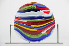 Flowing Art Glass Sculpture. Dimensions: 12″ W x 9″ H. Price: $520
