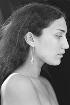 SOPHIE BUHAI - LONG QUARTZ DROP EARRINGS