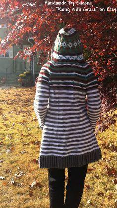 Vintage 70's Crochet Sweater Pattern PDF by KinzieWoolShop                                                                                                                                                                                 More