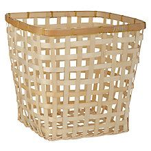 Buy John Lewis Coastal Bamboo Wastepaper Bin Online at johnlewis.com