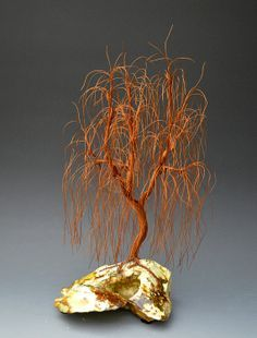 Weeping Willow Wire Tree Sculpture by metal by WireTreeSculpture, $150.00