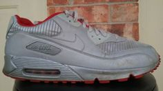 separation shoes d4071 ea96e NIKE AIR MAX 90 AIR ATTACK PACK 3M REFLECTIVE SILVER SHOES 325018 009 SZ 14  -i1