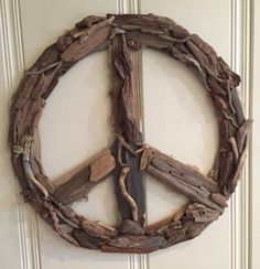 """23"""" Custom Driftwood Peace Sign - Great on a door or wall - LOVE!"""