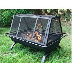 Sunnydaze Northland Grill Fire Pit With a cooking grate to make hamburgers, chicken wings or hotdogs you will be the hero in your social gatherings. Use this fire pit grill in your backyard, patio or deck or take camping. Fire Pit Cooking Grill, Fire Pit Grill, Cooking On The Grill, Fire Pits, Campfire Grill, Large Backyard, Fire Pit Backyard, Backyard Patio, Metal Fire Pit