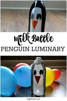 This sweet milk bottle penguin craft for kids is a cute and cheap activity that's perfect for winter. With a simple hack you can turn it into a fun luminary